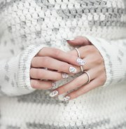 white marble nails - carly cristman