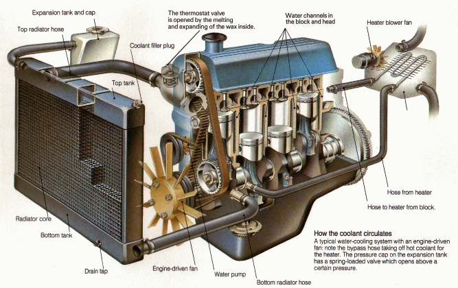 Opel Engine Cooling Diagram