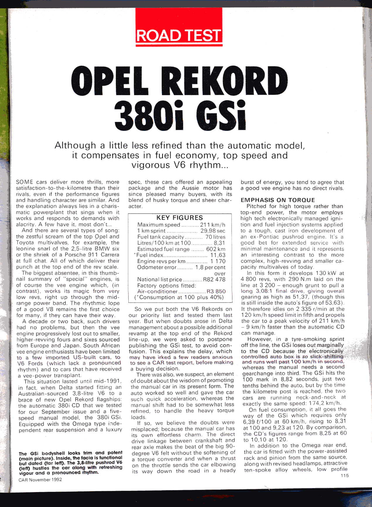 From The Archives Opel Rekord 380i Gsi