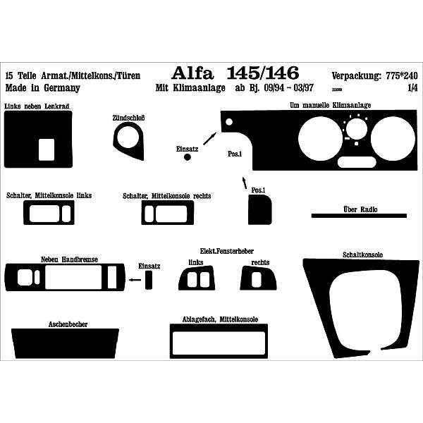 ΕΠΕΝΔΥΣΗ ALFA ROMEO 145/146 9/94-3/97 15T CL Αξεσουάρ