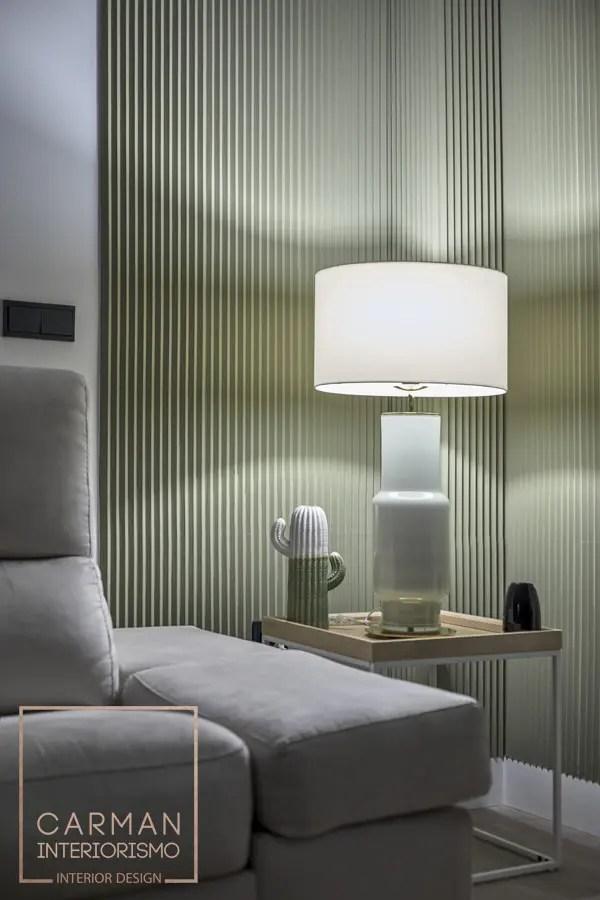 Diseño de rincon con lampara