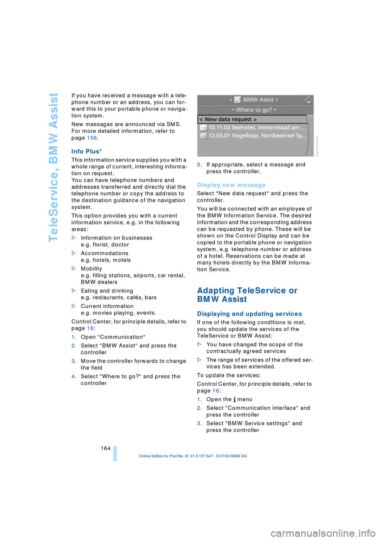 BMW 545I SEDAN 2004 E60 Owner's Manual