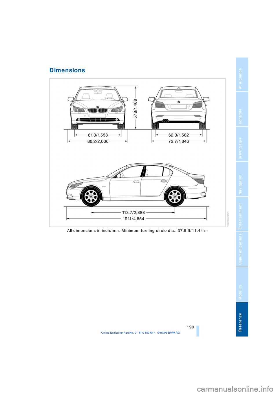 BMW 545I SEDAN 2004 E60 Owner's Manual (220 Pages), Page