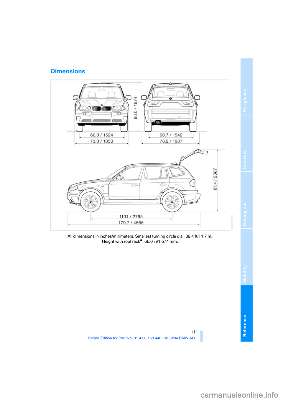 BMW X3 3.0I 2005 E83 Owner's Manual