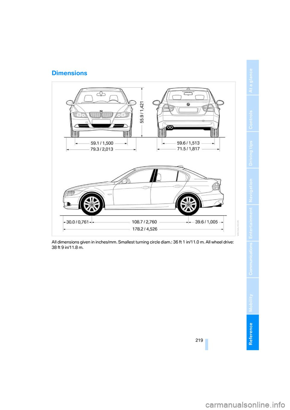 BMW 330XI SEDAN 2006 E90 Owner's Manual
