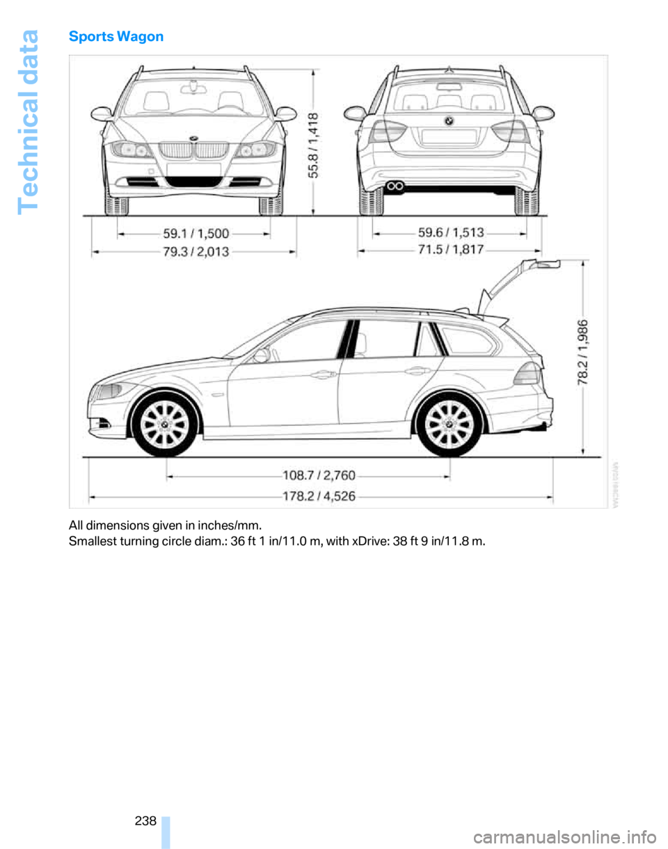 BMW 328XI SEDAN 2007 E90 Owner's Manual