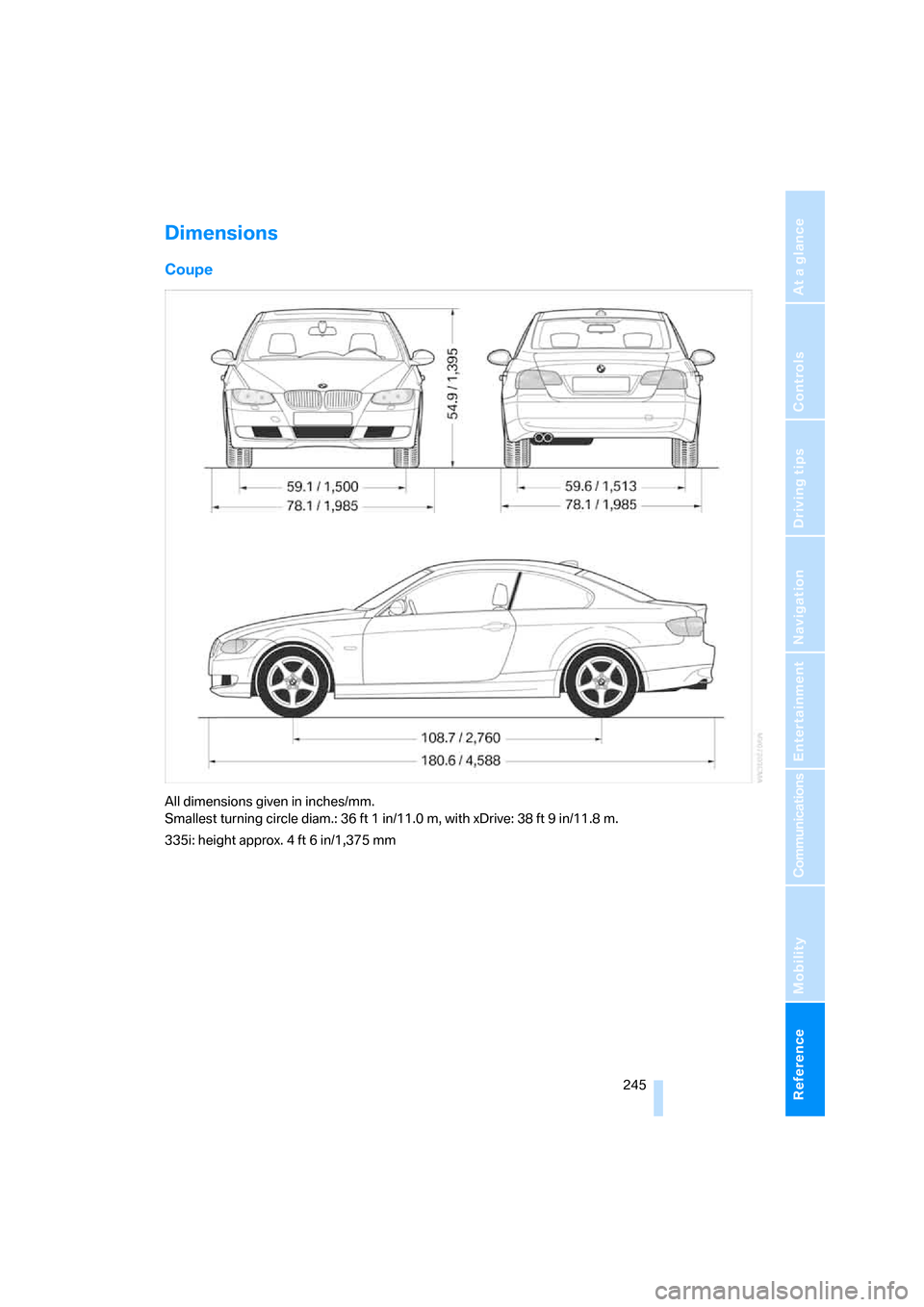 BMW 328I COUPE 2007 E92 Owner's Manual