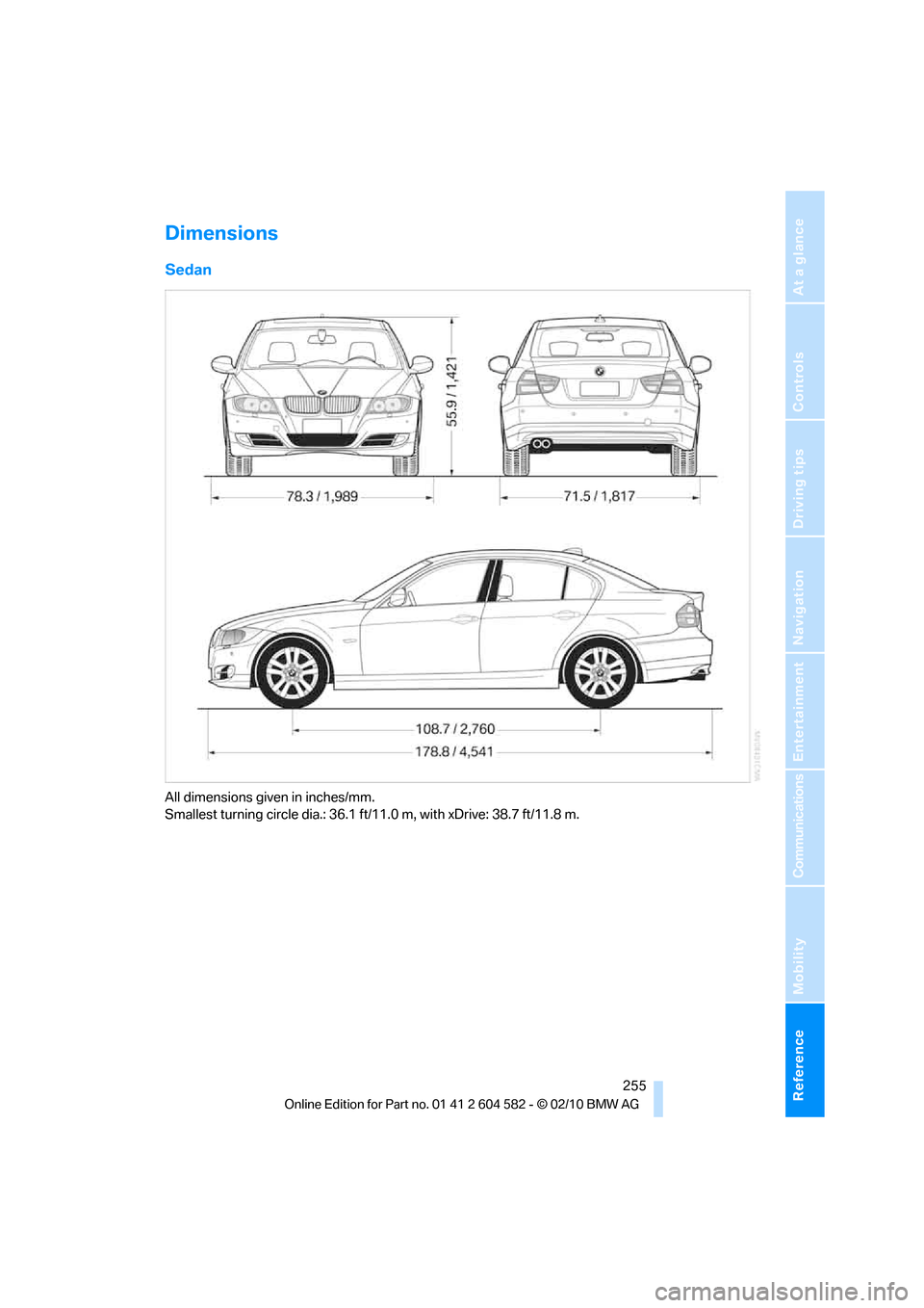 BMW 328I 2011 E90 Owner's Manual