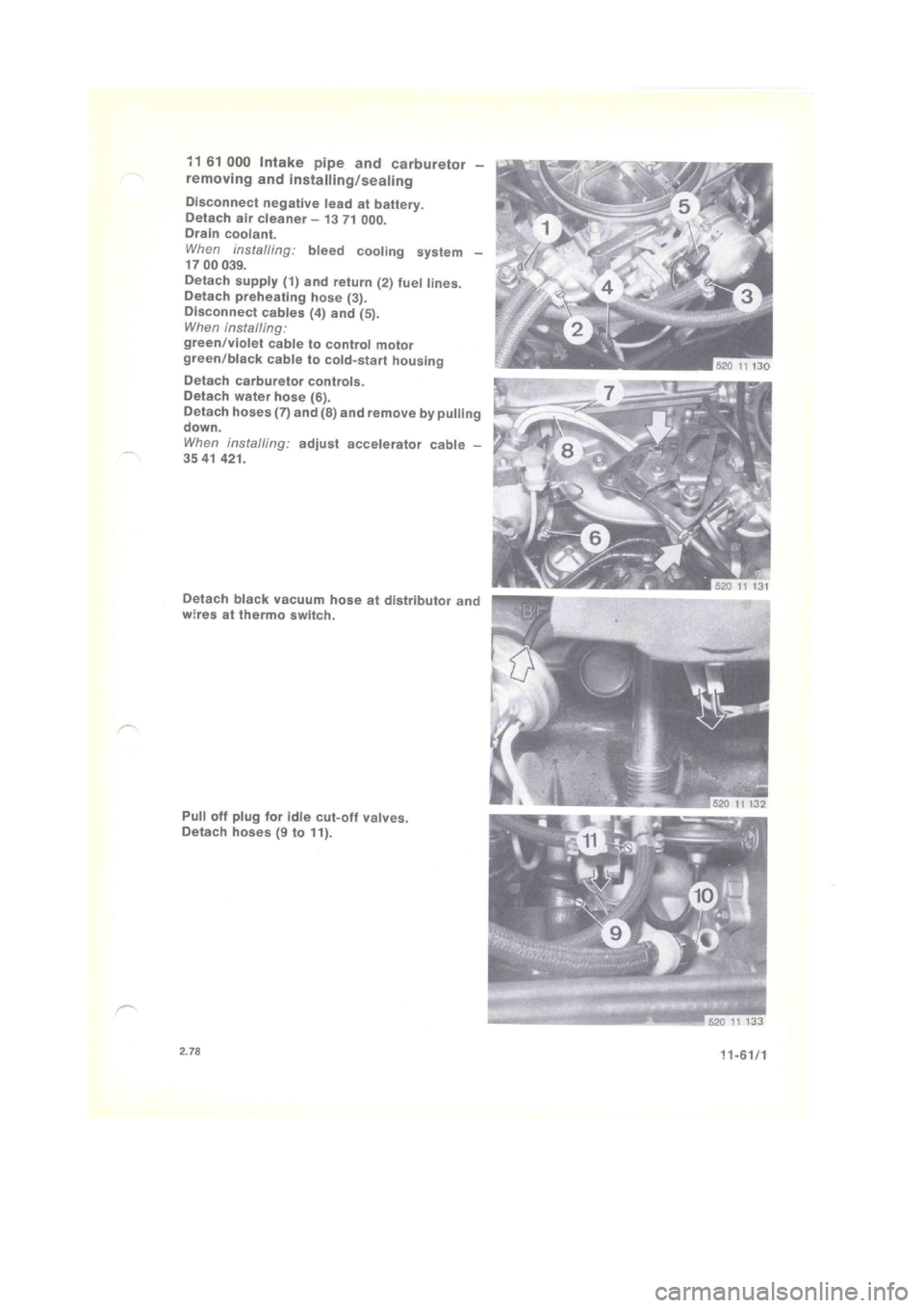 BMW 320i 1976 E21 M20 Engine Workshop Manual (121 Pages