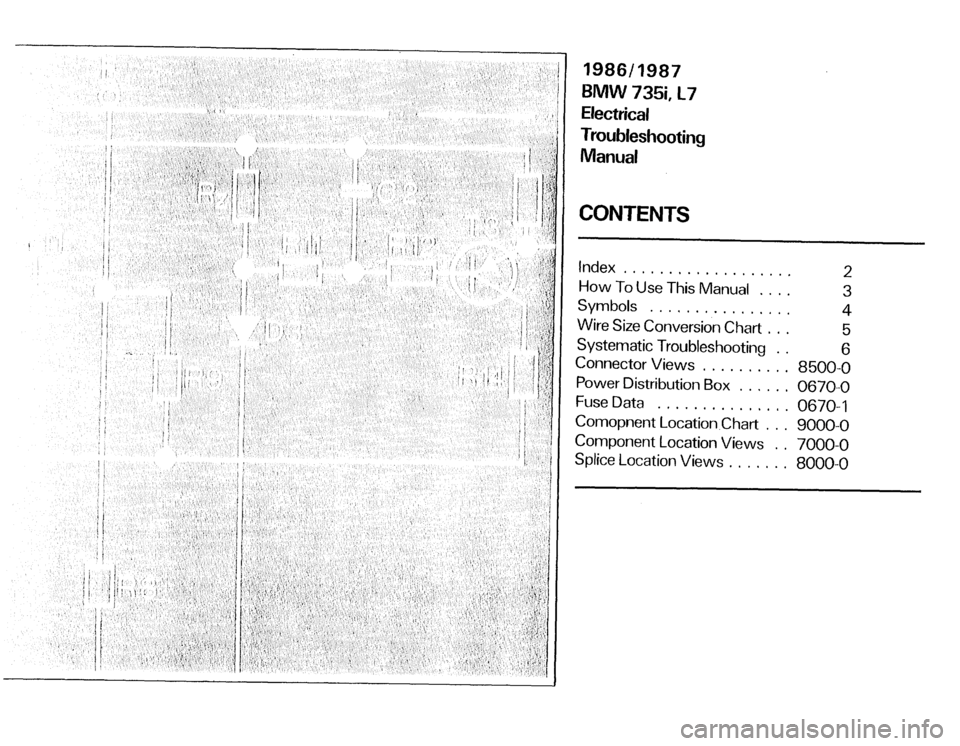 BMW 735i 1986 E23 Electrical Troubleshooting Manual