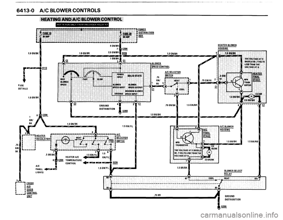 BMW 635csi 1988 E24 Electrical Troubleshooting Manual (192