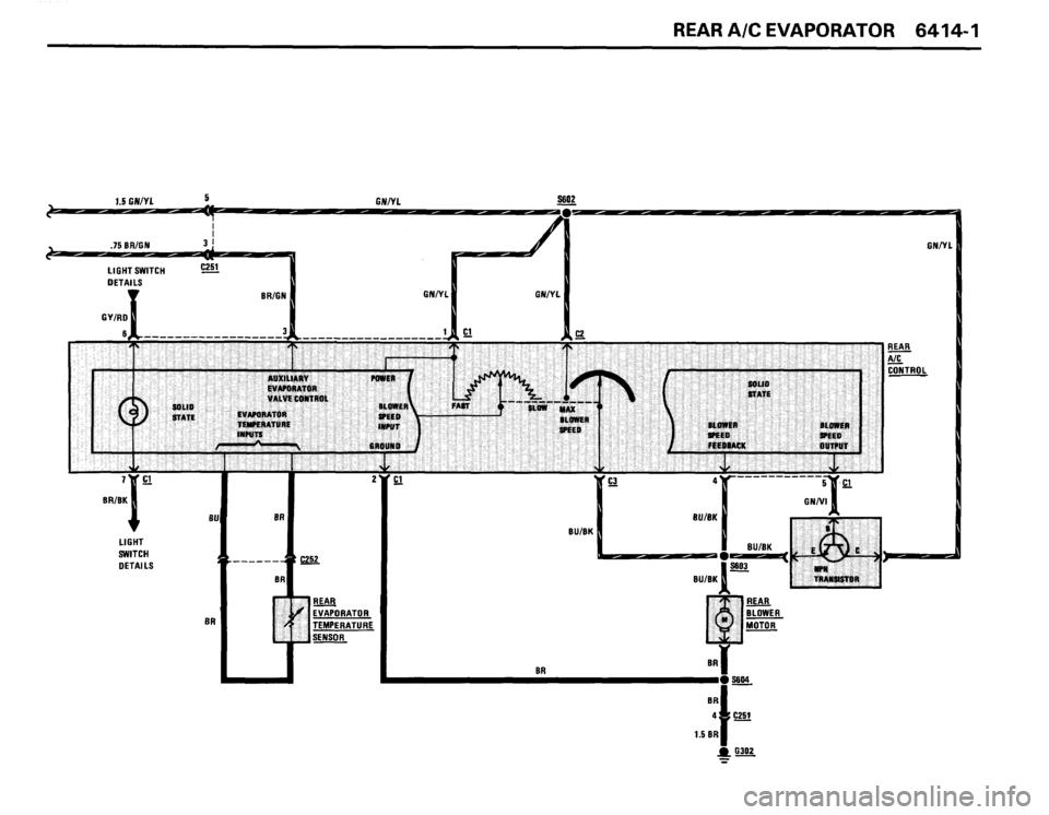 BMW 635csi 1988 E24 Electrical Troubleshooting Manual