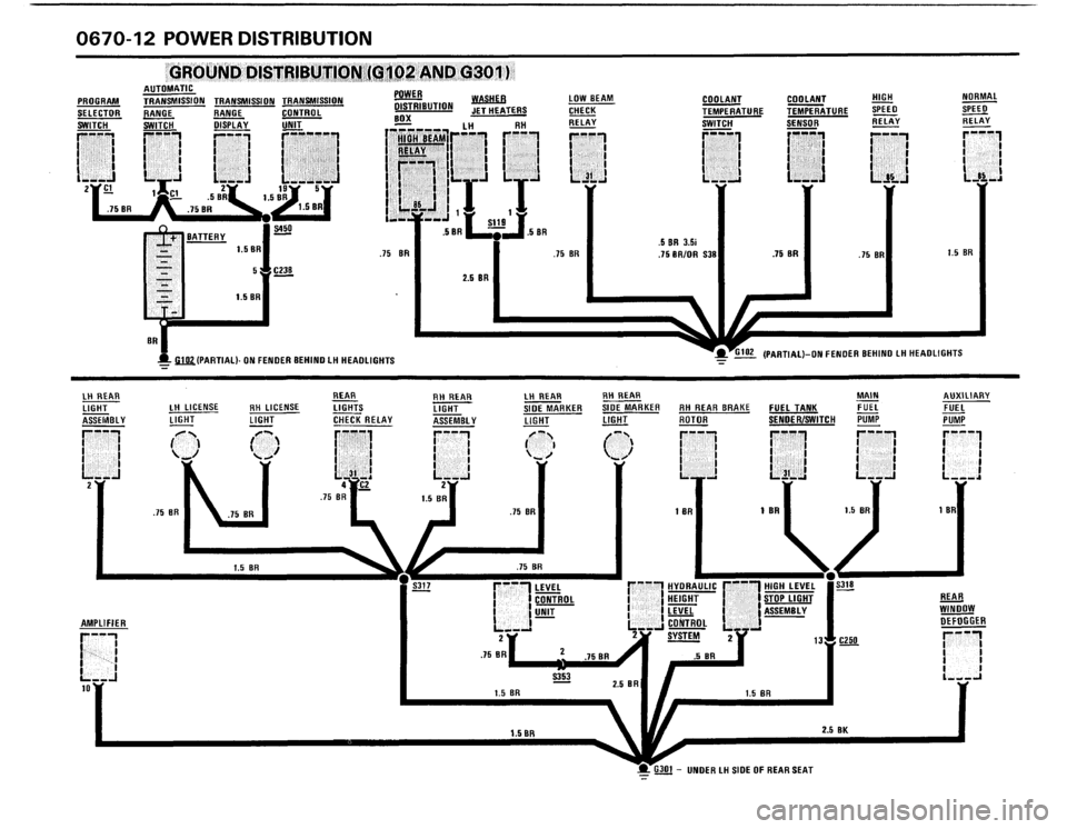 BMW M5 1988 E28 Electrical Troubleshooting Manual (175 Pages)