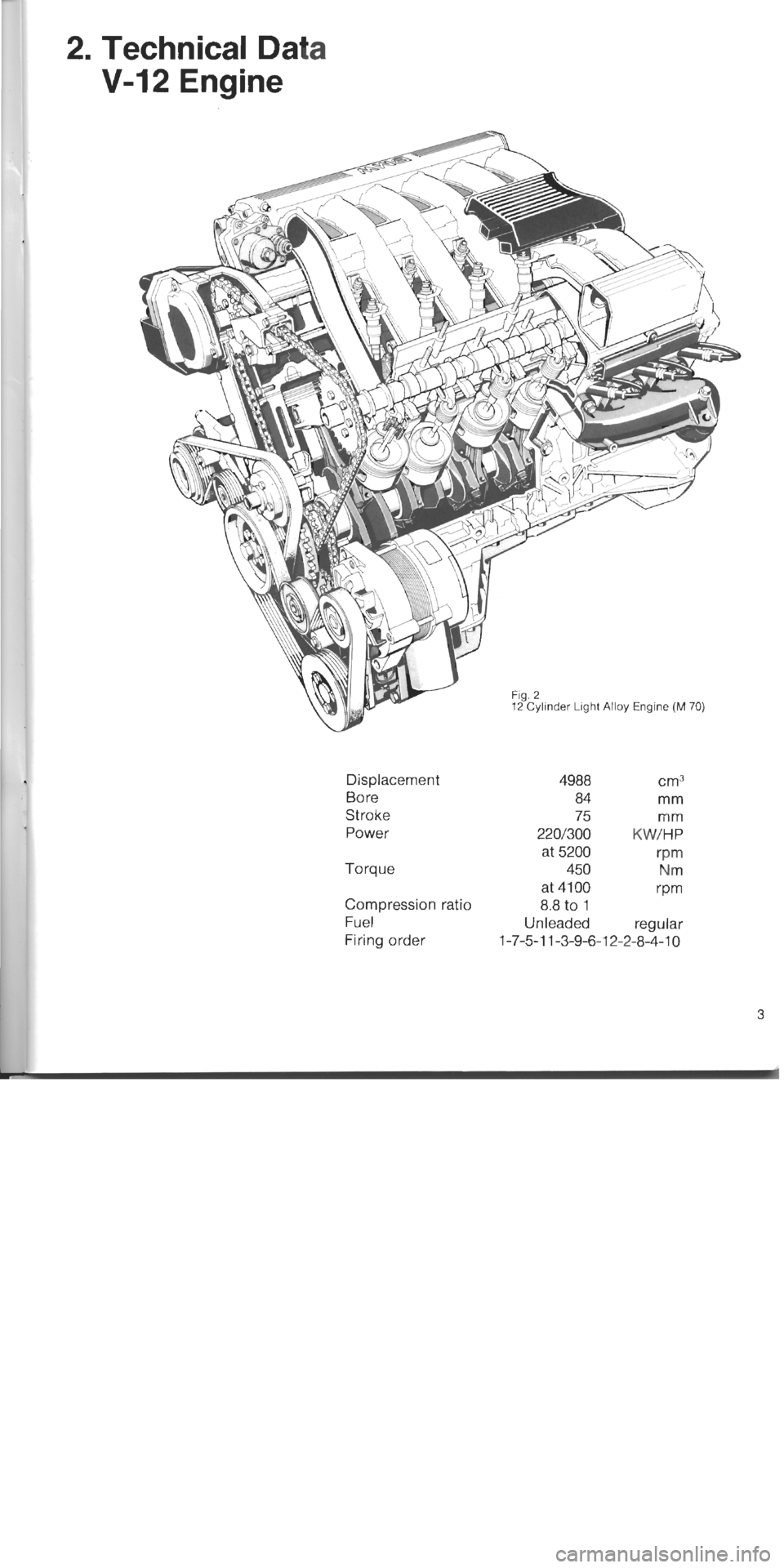 BMW 850i 1994 E31 M70 Engine Workshop Manual