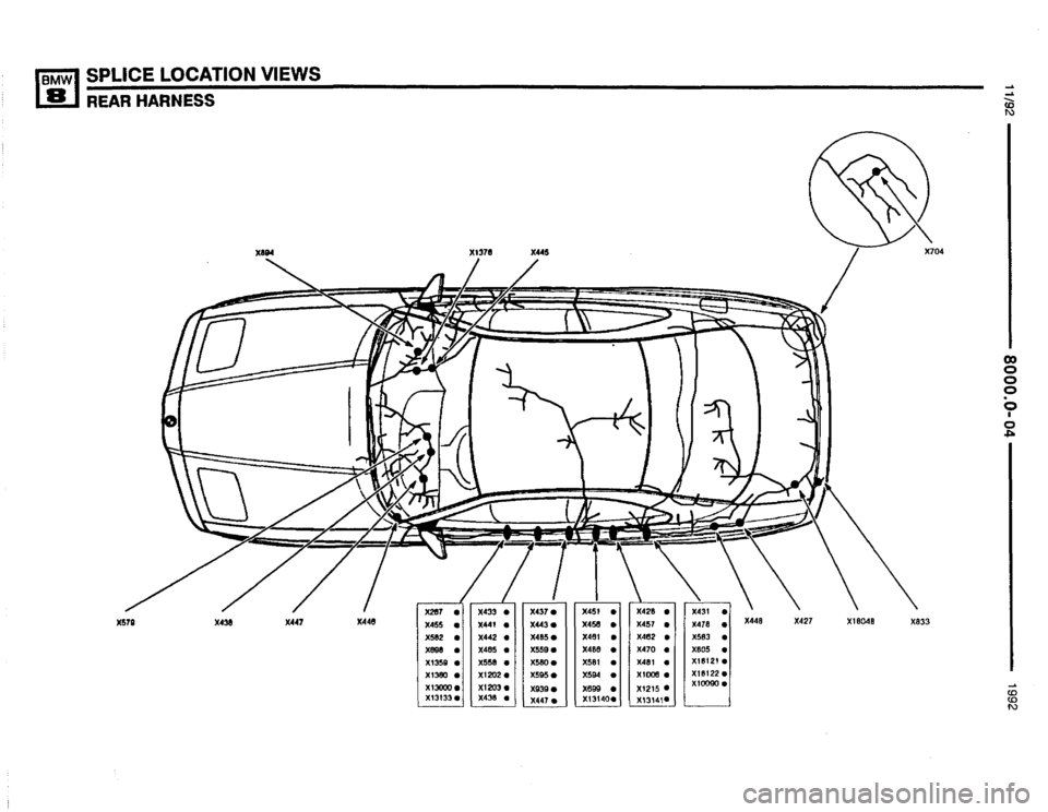 BMW 850i 1992 E31 Electrical Troubleshooting Manual