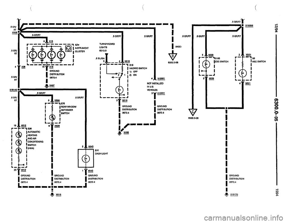 BMW 840ci 1994 E31 Electrical Troubleshooting Manual