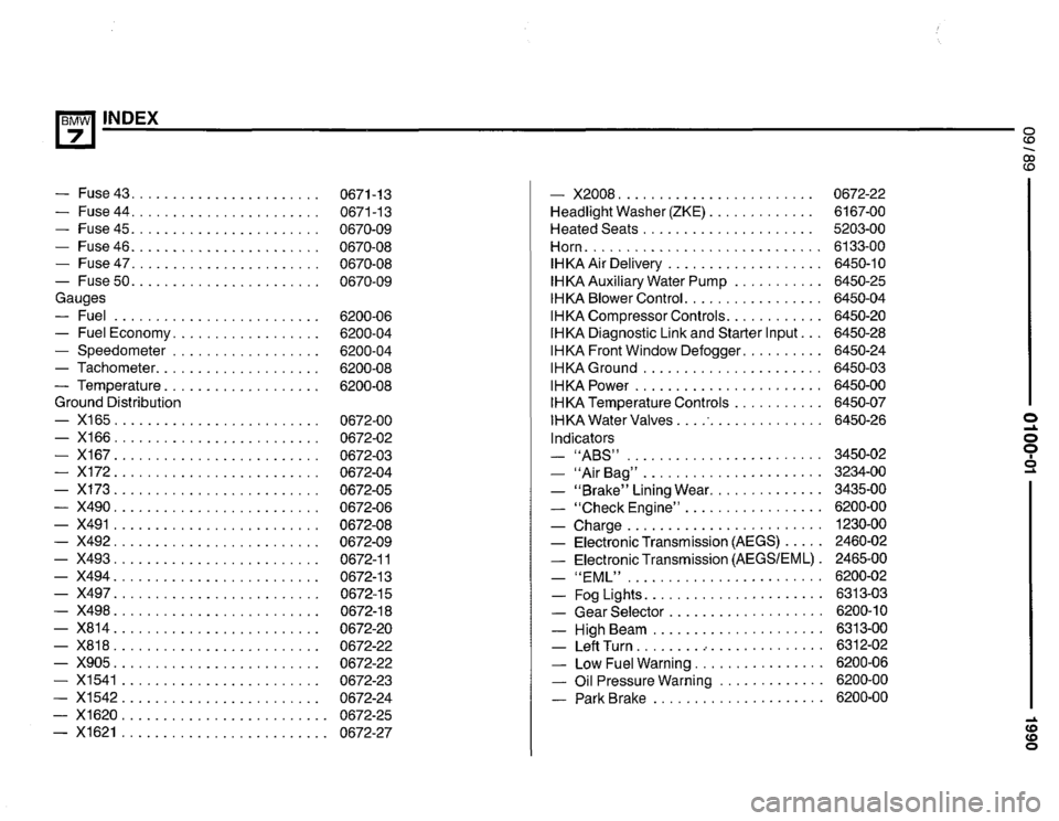 BMW 735i 1990 E32 Electrical Troubleshooting Manual (475