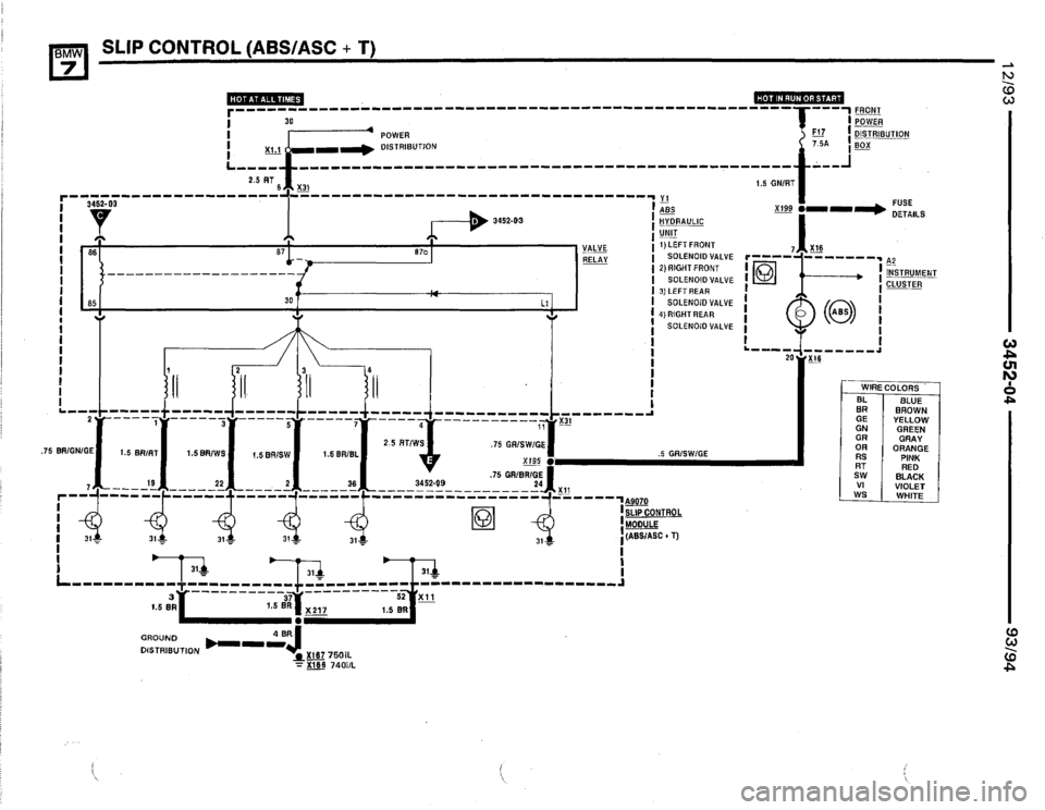 BMW 740il 1993 E32 Electrical Troubleshooting Manual (668