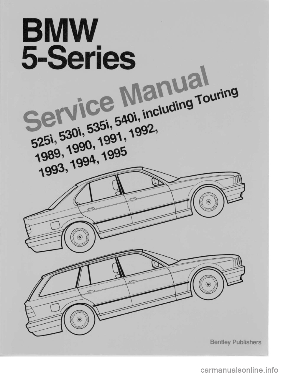 BMW 535i 1989 E34 Workshop Manual