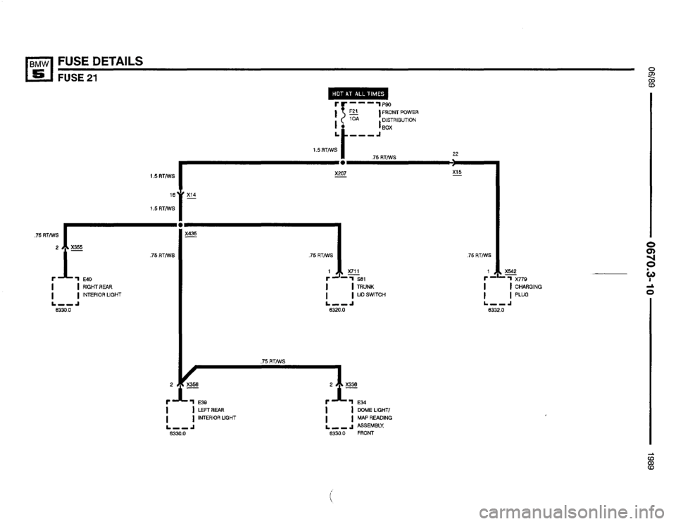 BMW 535i 1990 E34 Electrical Troubleshooting Manual (368