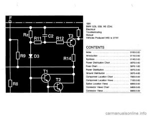 BMW 525i 1991 E34 Electrical Troubleshooting Manual