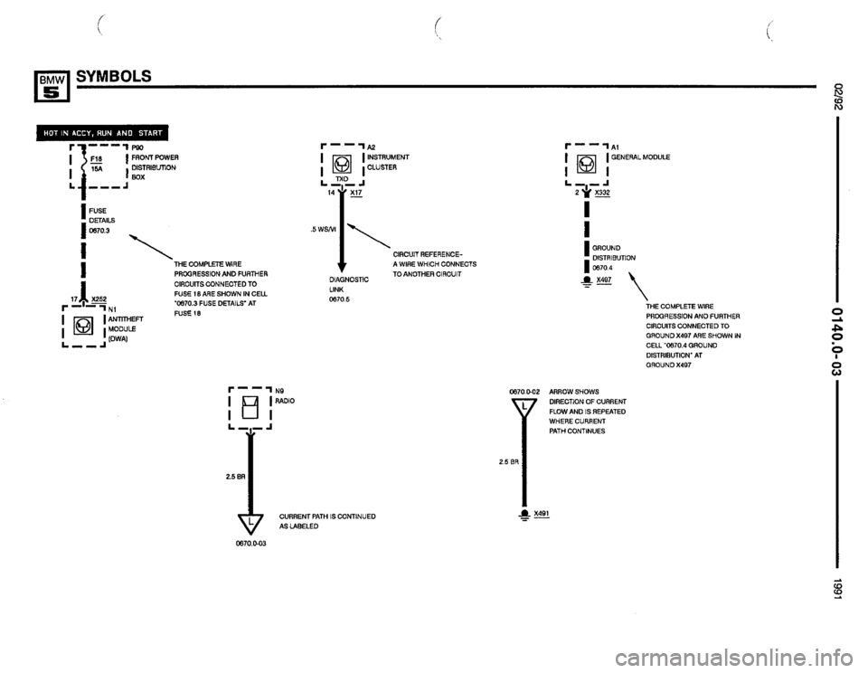 BMW 535i 1991 E34 Electrical Troubleshooting Manual