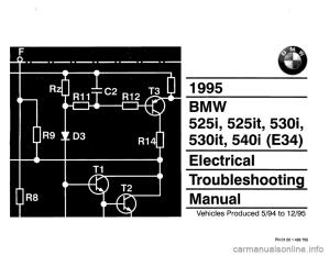 BMW 530i 1995 E34 Electrical Troubleshooting Manual