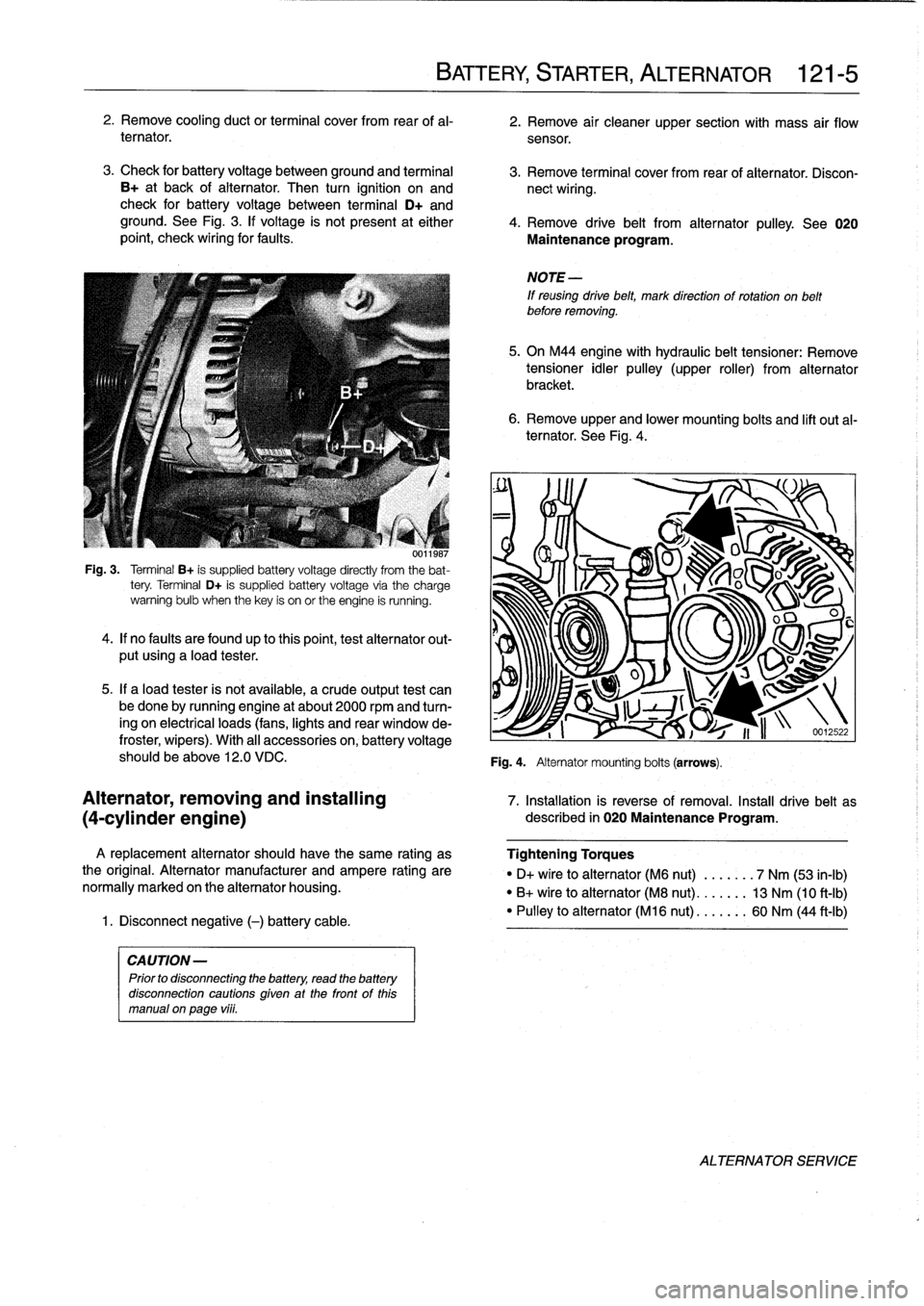 bulb BMW M3 1996 E36 Workshop Manual
