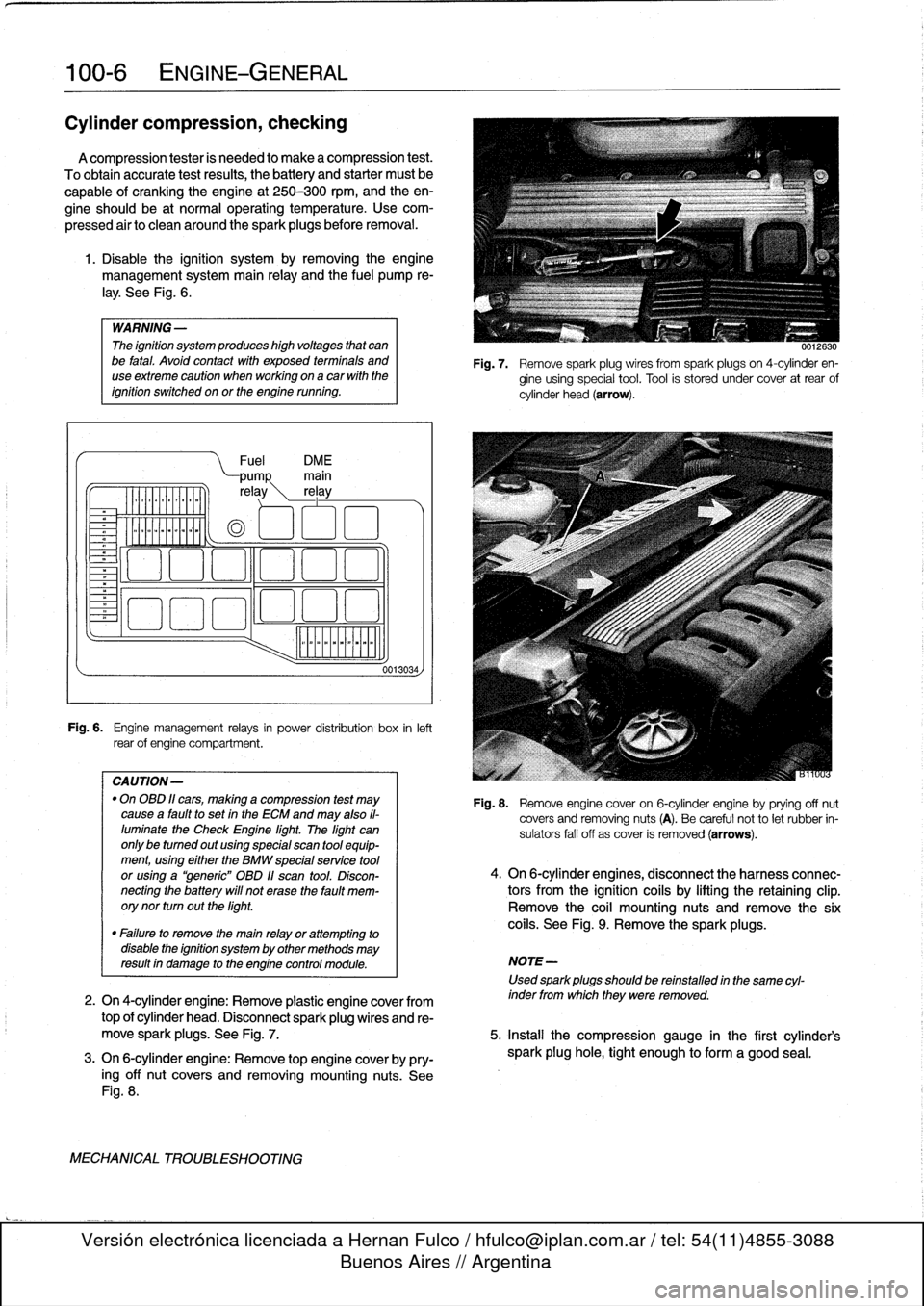 Service manual [Manual Repair Engine For A 1996 Bmw M3
