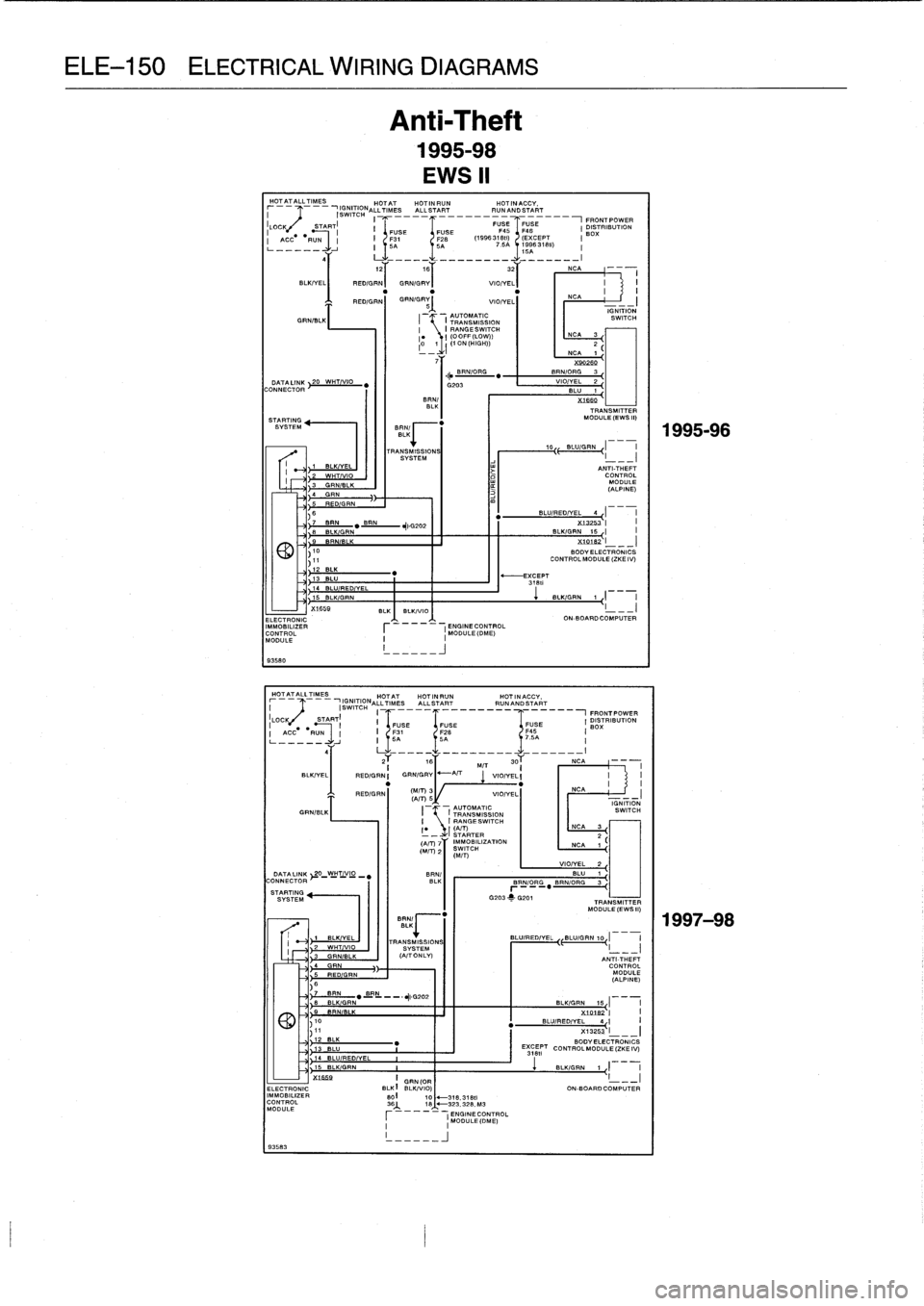BMW M3 1996 E36 Workshop Manual (759 Pages), Page 640: ELE
