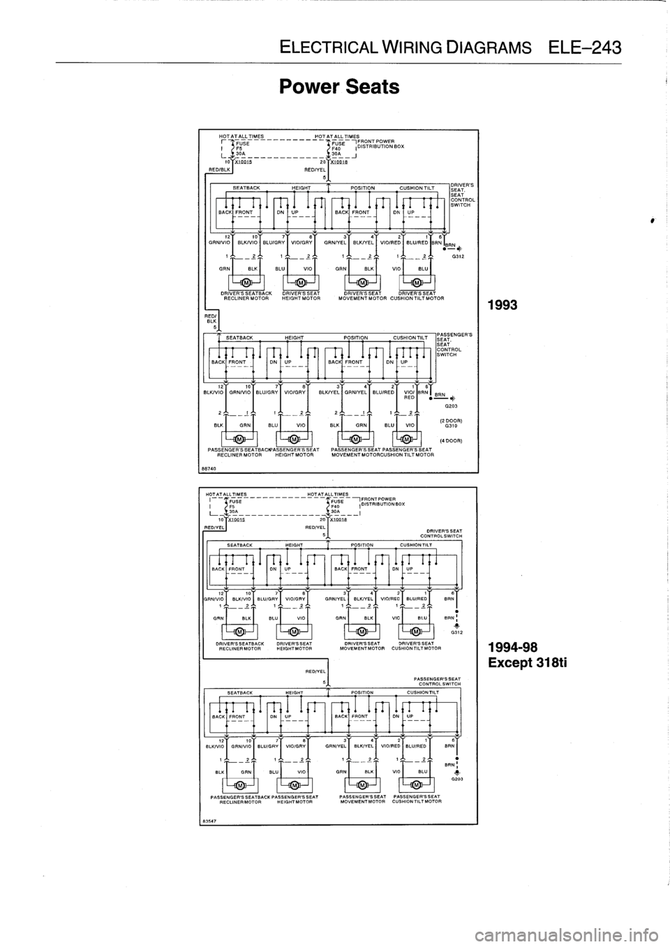 BMW 328i 1997 E36 Workshop Manual (759 Pages), Page 730