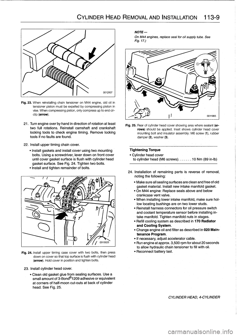 BMW 318i 1994 E36 Workshop Manual