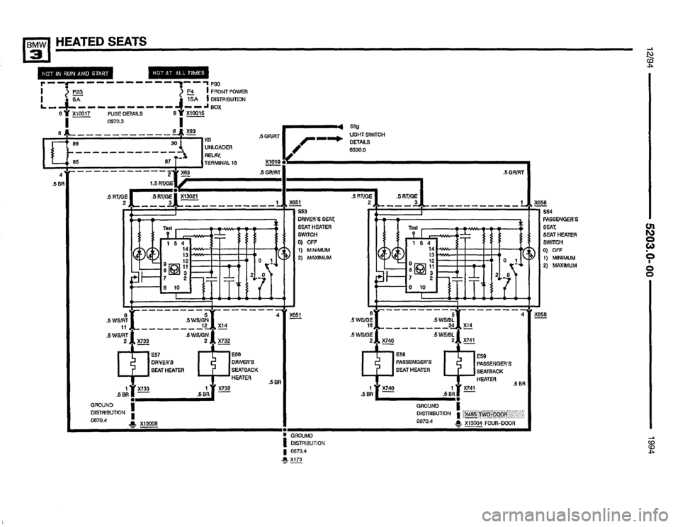 BMW 325i 1994 E36 Electrical Troubleshooting Manual (435