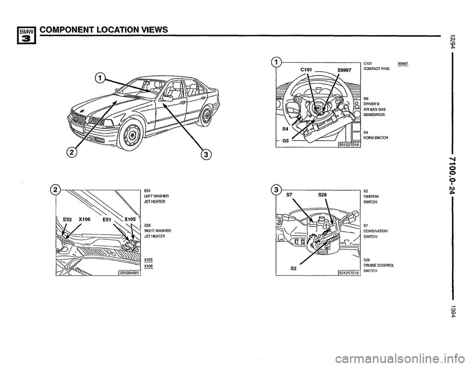 BMW 325i 1994 E36 Electrical Troubleshooting Manual (435