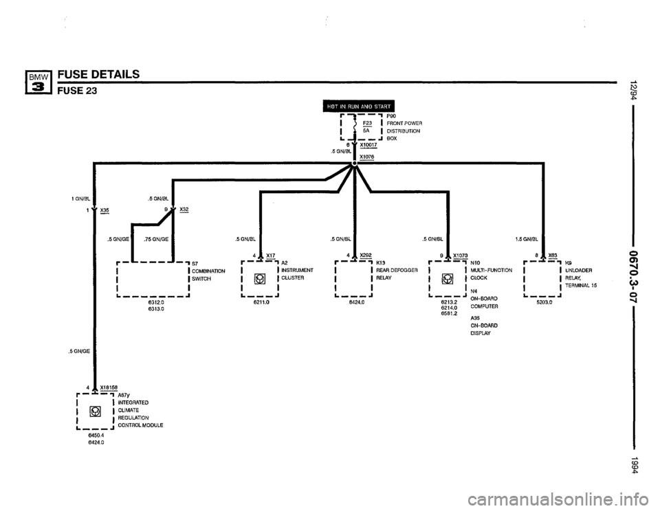 BMW 318i 1994 E36 Electrical Troubleshooting Manual (435