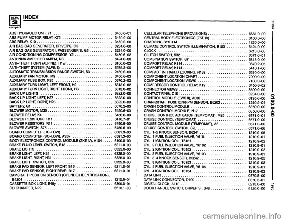 BMW 318ti 1995 E36 Electrical Troubleshooting Manual