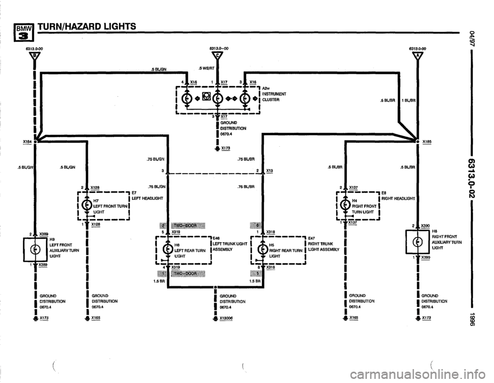 BMW 320i 1996 E36 Electrical Troubleshooting Manual (502