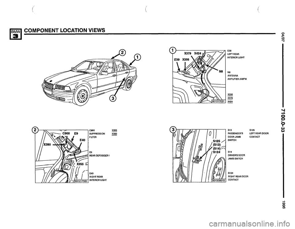 BMW 320i 1996 E36 Electrical Troubleshooting Manual (502
