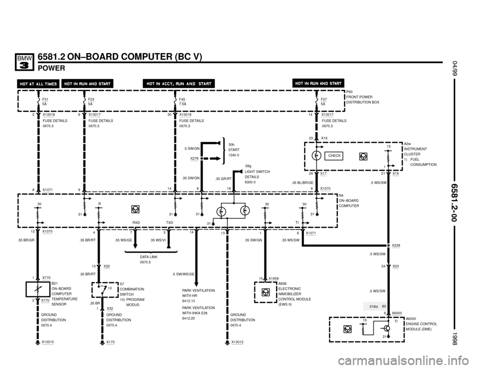 1998 Bmw 323is Wiring Diagram 2006 BMW Wiring Diagrams