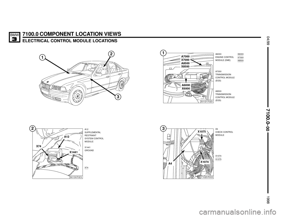 BMW M3 1998 E36 Electrical Troubleshooting Manual