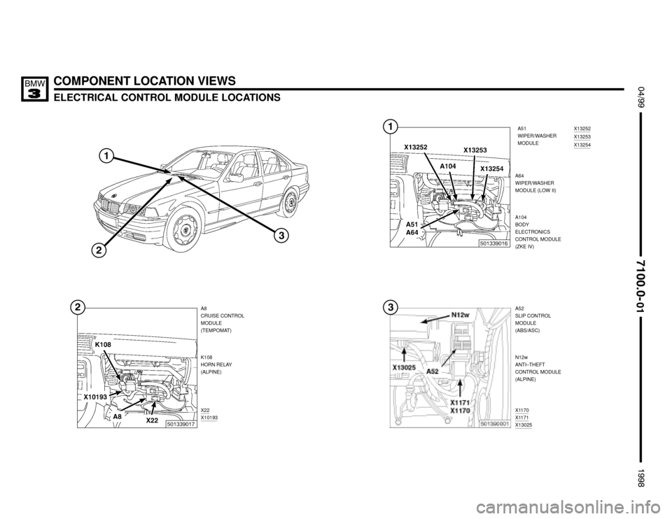 BMW M3 1998 E36 Electrical Troubleshooting Manual (386