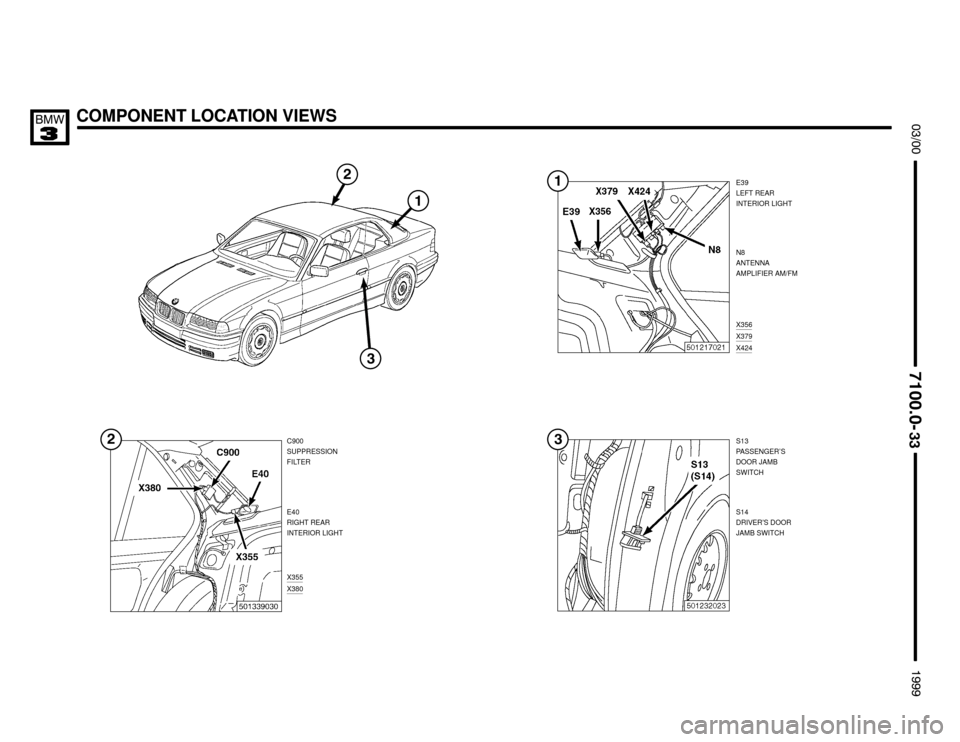 BMW M3 1999 E36 Electrical Troubleshooting Manual (383