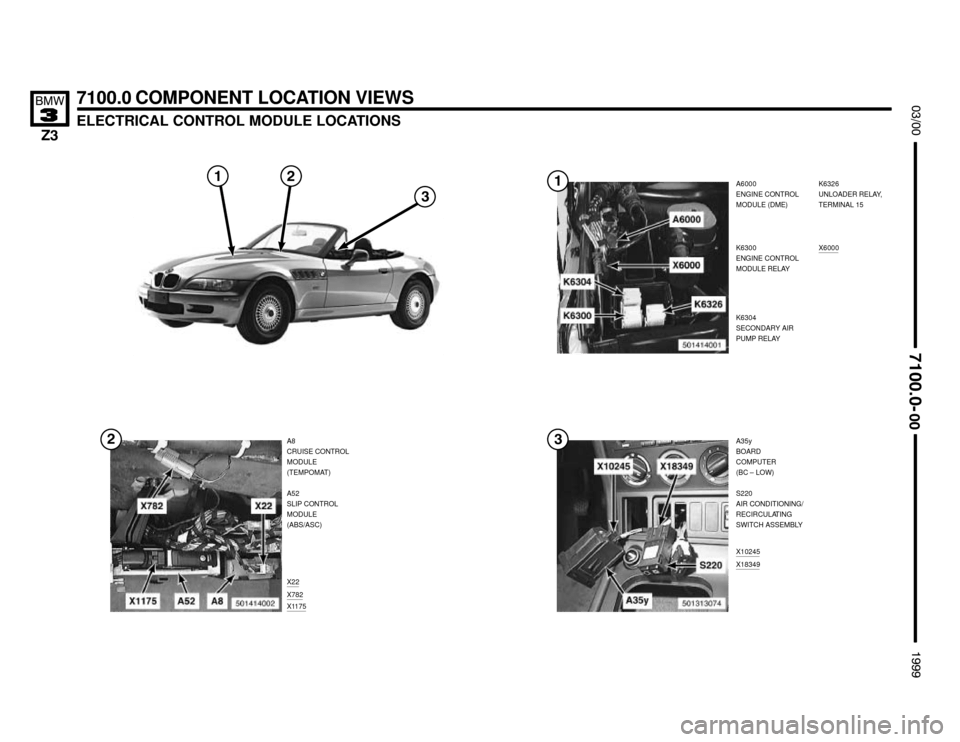 BMW Z3M ROADSTER 1999 E36 Electrical Troubleshooting