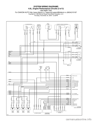 BMW 740il 1995 E38 System Wiring Diagrams