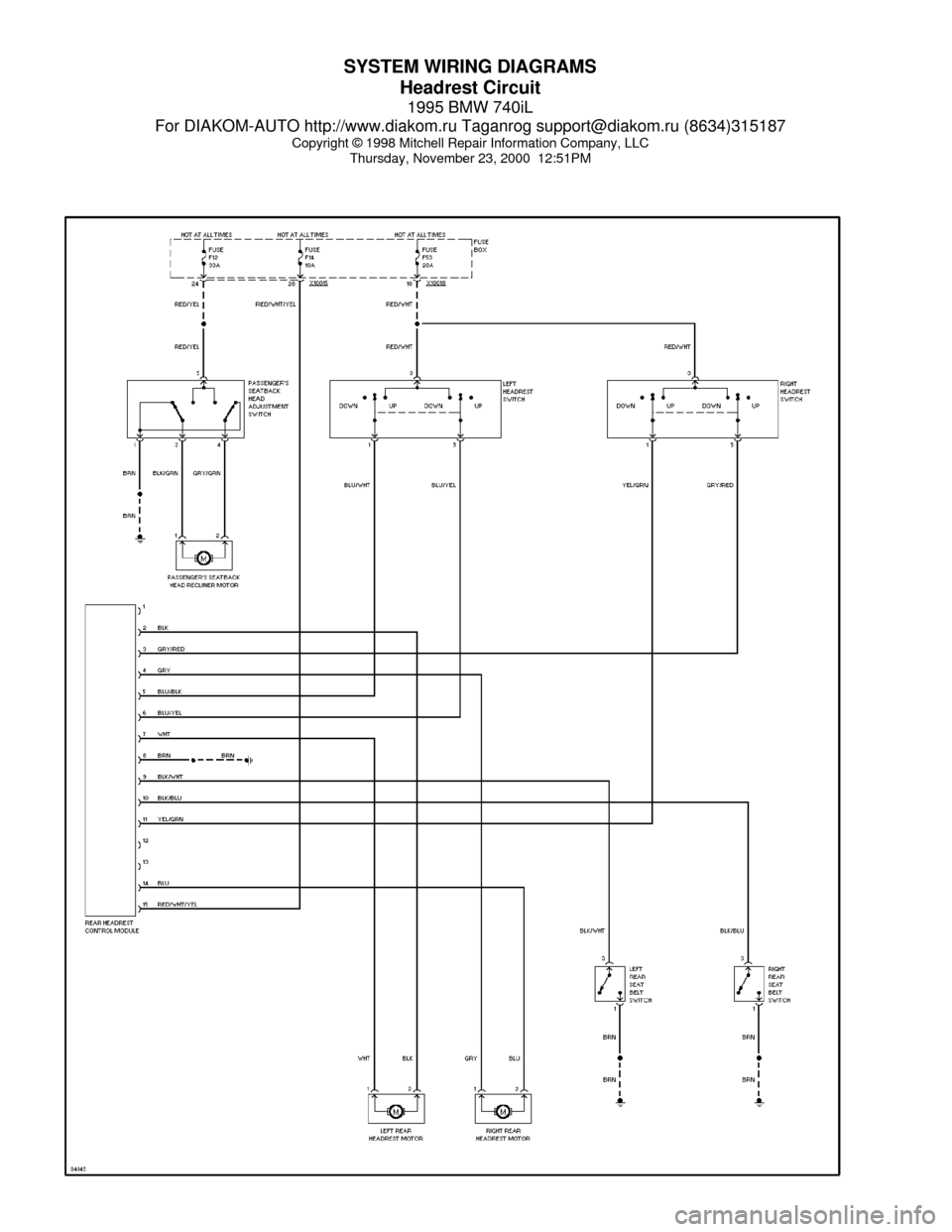 hight resolution of bmw 740il 1995 e38 system wiring diagramsbmw 740il wiring diagram 21
