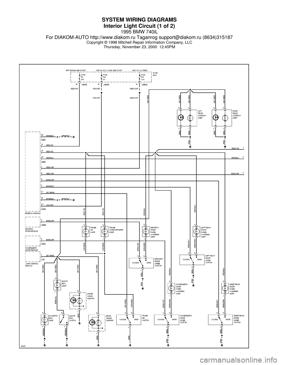medium resolution of bmw 740il 1995 e38 system wiring diagrams 2000 bmw z3 radio wiring diagram 2000 bmw 540i