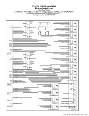 BMW 740il 1995 E38 System Wiring Diagrams