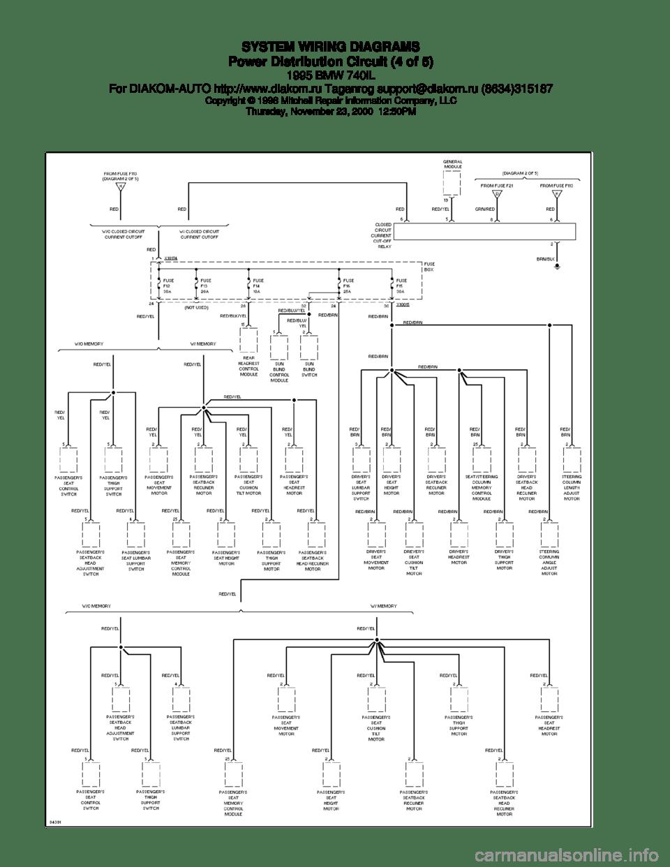 medium resolution of bmw 740il 1995 e38 system wiring diagrams