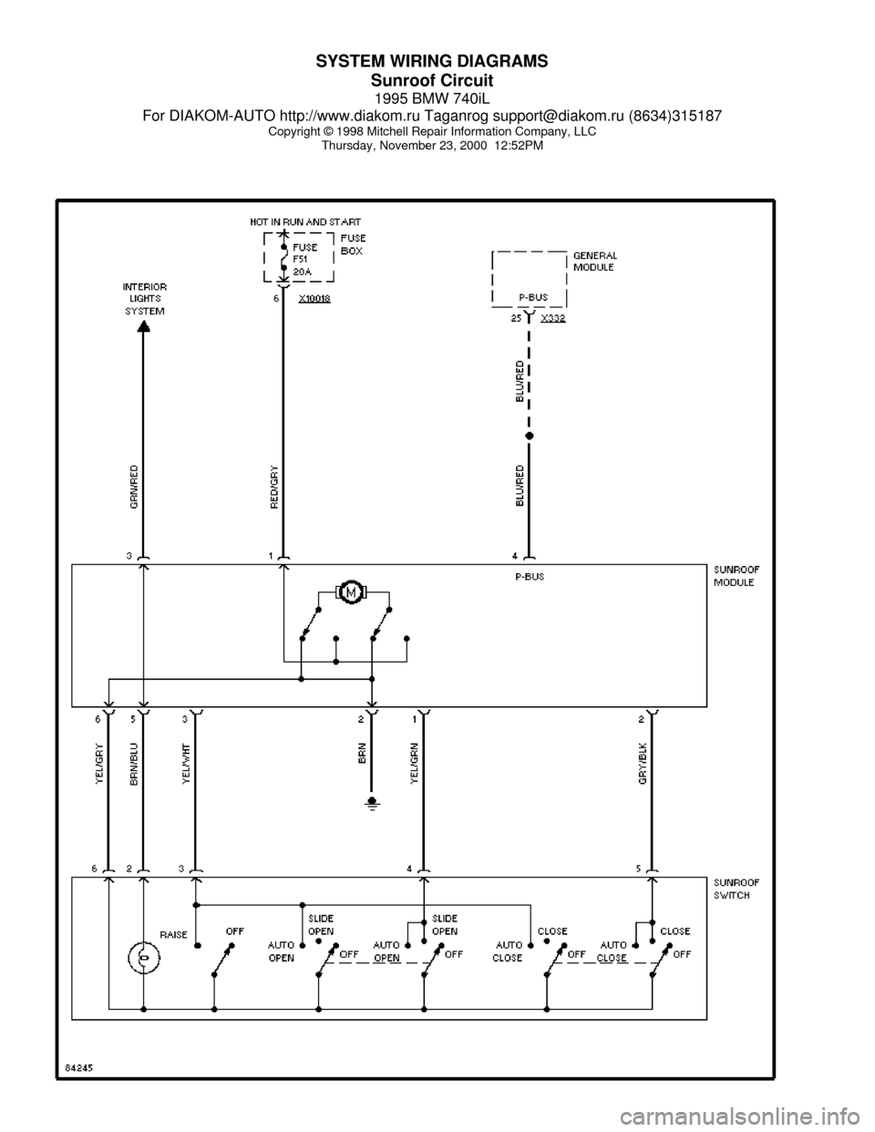 medium resolution of 1998 bmw 740il wiring diagram 29 wiring diagram images wiring at wiring diagram for optronics led