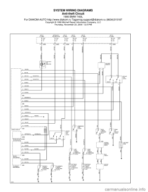 BMW 740il 1995 E38 System Wiring Diagrams